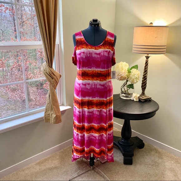 NY Collection Dresses & Skirts - NY Collection Cold Shoulder Maxi Dress NWT Size 1X